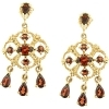 Garnet chandelier earrings 2.00 ctw.